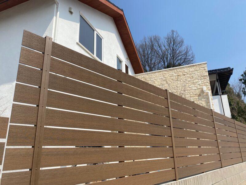 木調板フェンス